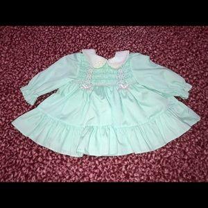 Sweet Polly Flinders Baby Dress Sz 0-3M Vintage